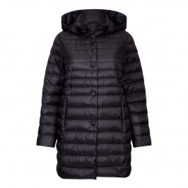 PERSONA BY MARINA RINALDI BLACK HOODED PUFFA COAT  - Plus Size Collection