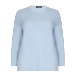 SANDRA PORTELLI pale blue cashmere SWEATER - Plus Size Collection