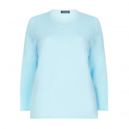 SANDRA PORTELLI AQUA CASHMERE SWEATER  - Plus Size Collection