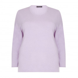 SANDRA PORTELLI lilac cashmere SWEATER - Plus Size Collection