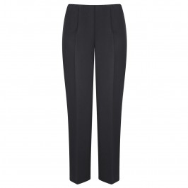Verpass black pull on narrow leg elastic waist trousers - Plus Size Collection