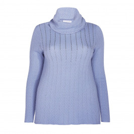 ELENA MIRO KNITTED TUNIC PALE BLUE