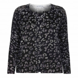PASSIONI BLACK ANIMAL PRINT embellished TWINSET - Plus Size Collection
