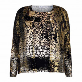 PASSIONI GOLD PRINT PAINT EFFECT TWINSET - Plus Size Collection