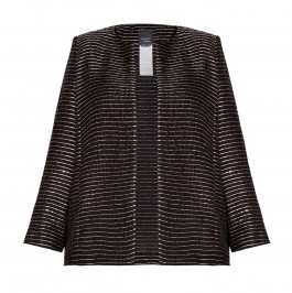 PERSONA BY MARINA RINALDI BLACK JACKET WITH GOLD THREAD - Plus Size Collection