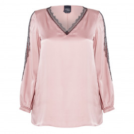 PERSONA BY MARINA RINALDI SATIN BLOUSE ROSE - Plus Size Collection