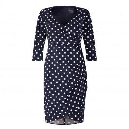 PERSONA BY MARINA RINALDI SPOT PRINT DRESS NAVY - Plus Size Collection