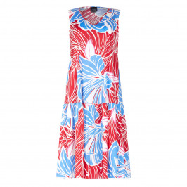 PERSONA FLORAL PRINT MIDI DRESS WITH OPTIONAL SLEEVES - Plus Size Collection
