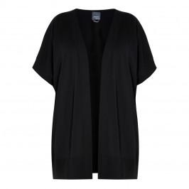 PERSONA BY MARINA RINALDI GILET BLACK - Plus Size Collection