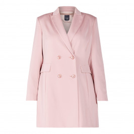 PERSONA BY MARINA RINALDI LONG JACKET ROSE PINK - Plus Size Collection