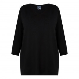 PERSONA BY MARINA RINALDI KNITTED TUNIC BLACK - Plus Size Collection
