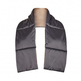 PERSONA BY MARINA RINALDI REVERSIBLE SCARF SLATE AND BRONZE - Plus Size Collection