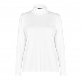 PERSONA BY MARINA RINALDI JERSEY POLO NECK WHITE  - Plus Size Collection