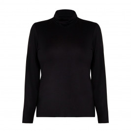 PERSONA BY MARINA RINALDI POLO NECK BLACK - Plus Size Collection