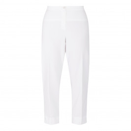 PERSONA BY MARINA RINALDI CROPPED TROUSER WHITE - Plus Size Collection