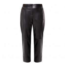 PERSONA BY MARINA RINALDI FAUX LEATHER TROUSERS BLACK - Plus Size Collection