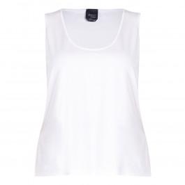 PERSONA BY MARINA RINALDI SCOOP NECK VEST WHITE - Plus Size Collection