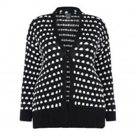 PERSONA BY MARINA RINALDI BLACK AND WHITE CARDIGAN - Plus Size Collection