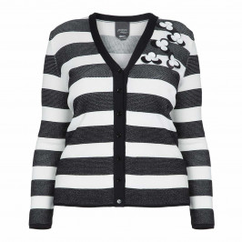 PERSONA BY MARINA RINALDI STRIPE CARDIGAN - Plus Size Collection