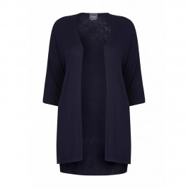 PERSONA BY MARINA RINALDI navy long shirt tail CARDIGAN - Plus Size Collection