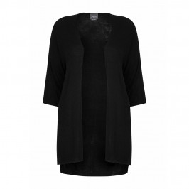 PERSONA long black shirt tail CARDIGAN - Plus Size Collection