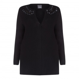 PERSONA BLACK EMBELLISHED JEWEL CARDIGAN  - Plus Size Collection