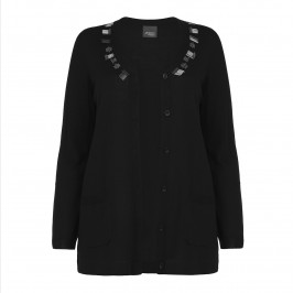 PERSONA black beaded CARDIGAN - Plus Size Collection