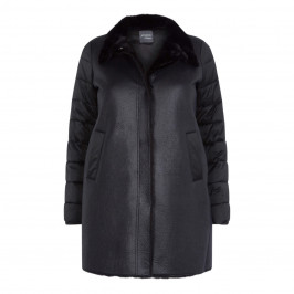 PERSONA BY MARINA RINALDI PUFFER FAUX-SHEARLING BLACK - Plus Size Collection