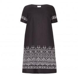 Marina Rinaldi geometric jacquard pattern DRESS - Plus Size Collection