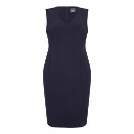 PERSONA NAVY TAILORED DRESS WITH OPTIONAL SLEEVES  - Plus Size Collection