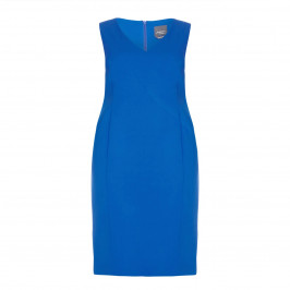 PERSONA BY MARINA RINALDI blue tailored DRESS with optional sleeves - Plus Size Collection