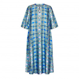 PERSONA BY MARINA RINALDI PRINTED SATIN DRESS