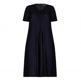 PERSONA navy A-Line DRESS - Plus Size Collection