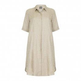 PERSONA stone linen shirt DRESS - Plus Size Collection