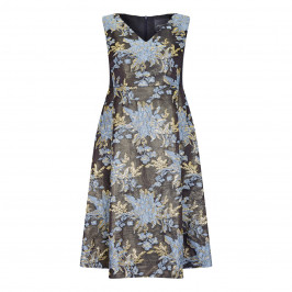 PERSONA BY MARINA RINALDI FLORAL JACQUARD DRESS WITH OPTIONAL SLEEVES - Plus Size Collection
