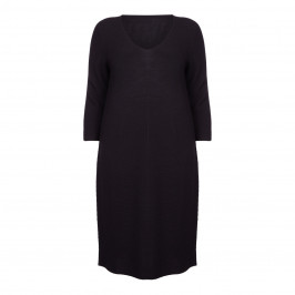 PERSONA BY MARINA RINALDI BLACK KNITTED DRESS - Plus Size Collection
