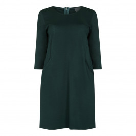 Persona Dark Green Punto Milano Jersey Dress - Plus Size Collection