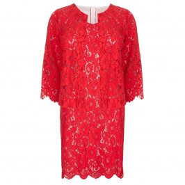 PERSONA red lace JACKET + DRESS - Plus Size Collection