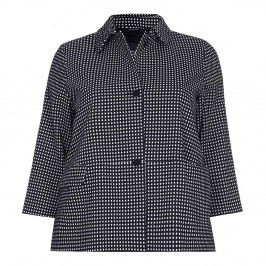 PERSONA black small check JACKET - Plus Size Collection