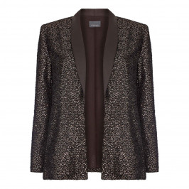 PERSONA BY MARINA RINALDI EDGE TO EDGE SEQUIN BLAZER ESPRESSO - Plus Size Collection
