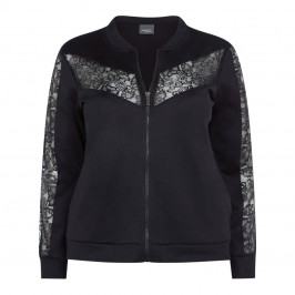 PERSONA BY MARINA RINALDI BLACK JACKET LACE INSERT - Plus Size Collection