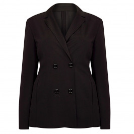 PERSONA BY MARINA RINALDI DOUBLE BREASTED BLAZER BLACK - Plus Size Collection