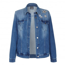 PERSONA BY MARINA RINALDI JEWEL EMBELLISHED DENIM JACKET  - Plus Size Collection