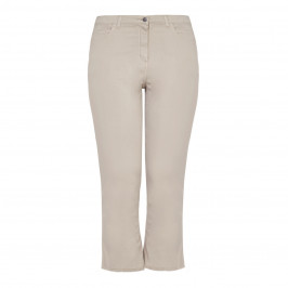 PERSONA BY MARINA RINALDI COTTON cropped flare jeans with fringed hem - Plus Size Collection