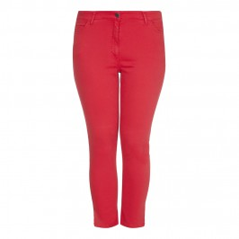 PERSONA red 5-pocket slimfit JEANS - Plus Size Collection