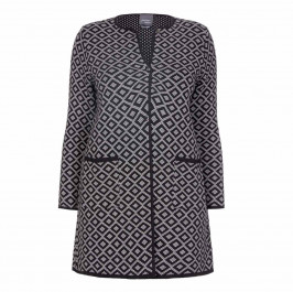 PERSONA BY MARINA RINALDI JACQUARD KNITTED JACKET - Plus Size Collection