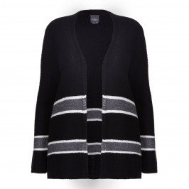 PERSONA BY MARINA RINALDI STRIPE CARDIGAN WITH SCATTERED SEQUIN DETAIL - Plus Size Collection