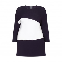 PERSONA ribbed colourblock knitted TUNIC - Plus Size Collection