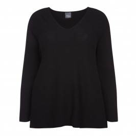 PERSONA BY MARINA RINALDI BLACK KNITTED TUNIC - Plus Size Collection