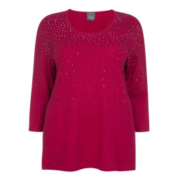 PERSONA BY MARINA RINALDI KNITTED TUNIC RASPBERRY - Plus Size Collection